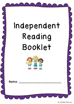 Independent Reading Booklet for lower primary! Great for literacy stations!