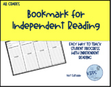 Independent Reading Bookmark for All Grades