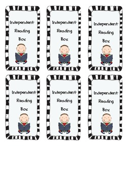 Independent Reading Box Labels