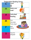 Independent Reading CHAMPS Visual Schedule
