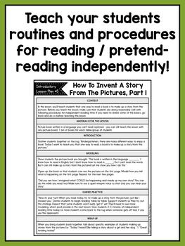 Independent Reading Center Supplementary Materials for Kindergarten