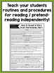Independent Reading Center Supplementary Materials for Kindergarten