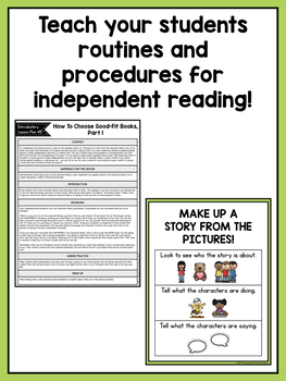 Independent Reading Center Supplementary Materials for First Grade