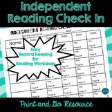 Independent Reading Check In Form