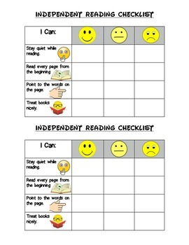 Independent Reading Checklist