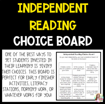 Independent Reading Choice Board