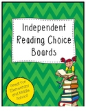 Independent Reading Choice Boards