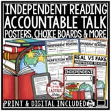 Independent Reading Activities & Posters- Higher Leveling Thinking BUNDLE