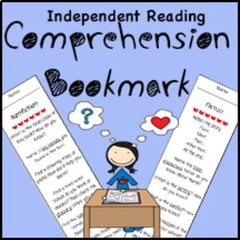 Independent Reading Comprehension Bookmark