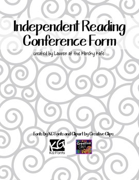 Independent Reading Conference Form