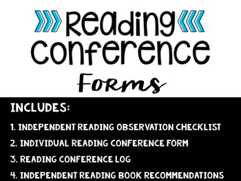 Independent Reading Conference Forms (4-FREEBIES)