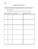 Independent Reading Conflict Tracker