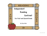 Independent Reading Contract, FREEBIE, For First or Second Grade
