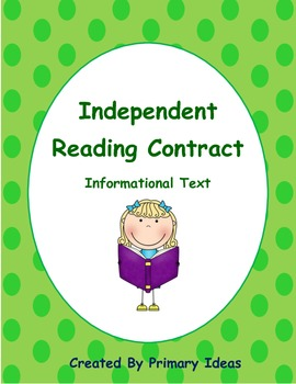 Independent Reading Contract: Informational Text