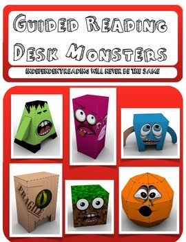 Independent Reading Desk Monsters (Guided Reading Foldable Monsters) Ver 2.01