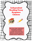 Independent Reading Essay Response Options