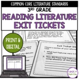3rd Grade Standards Based Reading Exit Tickets for Literature