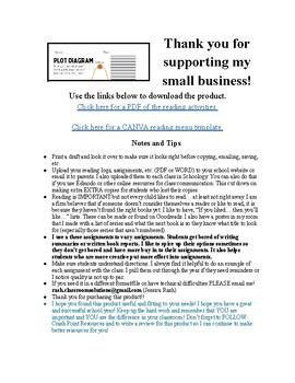 Independent Reading - Extra Activities