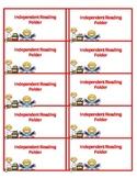 Independent Reading Folder Labels
