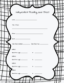 Independent Reading Goal Sheet