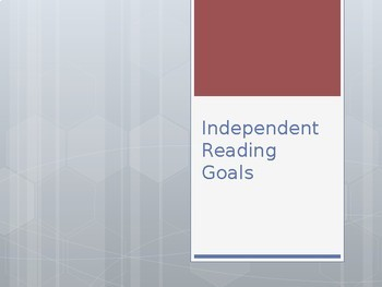 Independent Reading Goals: Complete Lesson Plan & Materials