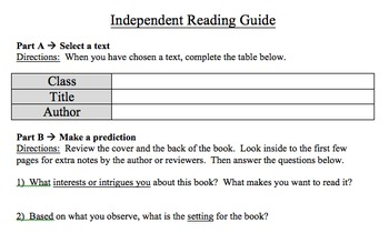 Independent Reading Guide