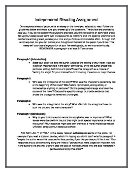 Independent Reading In Class Essay