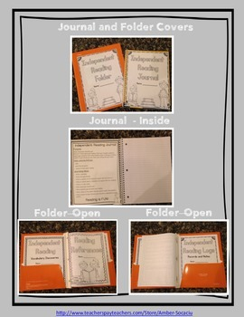 Independent Reading Journal and Folder Printables