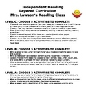 Independent Reading Layered Curriculum
