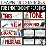 Independent Reading Learning Stations: distance learning option added