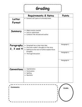 Independent Reading Letters - A Reading Log Alternative