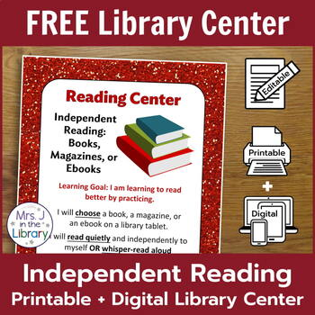 Independent Reading Library Center FREEBIE!
