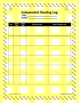Independent Reading Log
