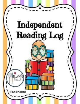 Independent Reading Log - FREE