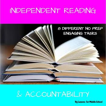 ELA  - Independent Reading Log Accountability Activities for Middle School