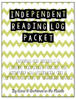 Independent Reading Log Packet