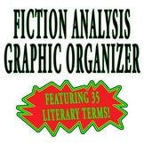 Fiction Analysis Graphic Organizer - two pages plus rubric