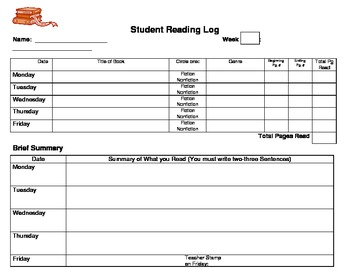 Independent Reading Log with Reflection