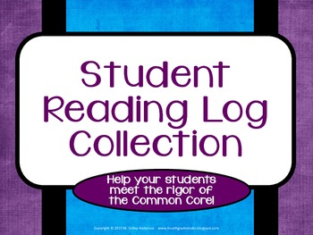 Independent Reading Logs Set 2