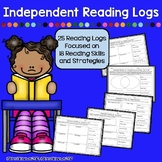 Independent Reading Logs - 25 Logs, Multiple Reading Skills & Strategies