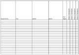 Independent Reading Logs - Teacher Checklist - EXCEL VERSION