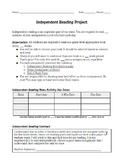 Independent Reading Menu Assignment