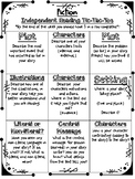 Independent Reading Menus- Fiction and Non-Fiction