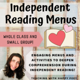 Independent Reading Menus: Whole Group and Small Group