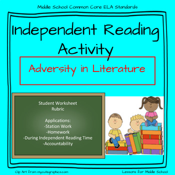 Independent Reading Accountability- Middle School Novel Activity