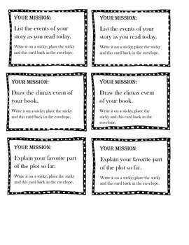 Independent Reading Misson Cards Pack