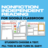 Independent Reading Nonfiction Graphic Organizer for Googl