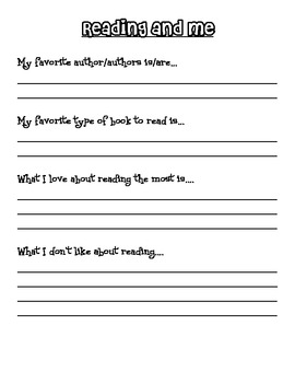 Independent Reading Notebook
