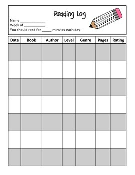 Independent Reading Notebook: Student Accountability!