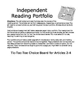 Independent Reading Portfolio